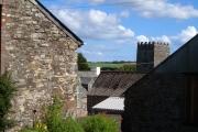Farm and church, Moreleigh