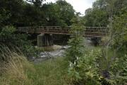 Footbridge over the Afon Afan and Cwmafan