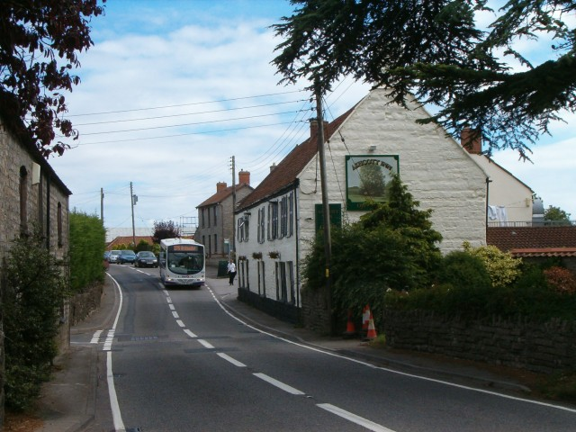 Ashcott Inn and A39