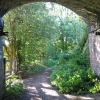 Under a railway bridge, Westhouses