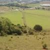 Track below Battlesbury Hill, view to Warminster
