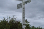 Signpost at Coarsewell Cross