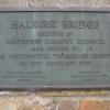 Plaque on Halkirk Bridge