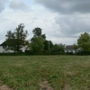 Field behind houses on the main street of Talaton