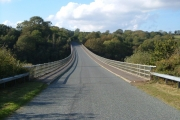 Bridge across arm of Roadford Reservoir