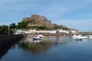 Gorey Harbour and Mount Orgeil Castle