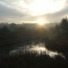 November sunrise over White Rose Centre lake