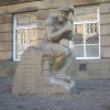 miner statue  outside Morley Town Hall