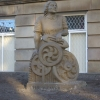 mill girl statue outside Morley Town Hall
