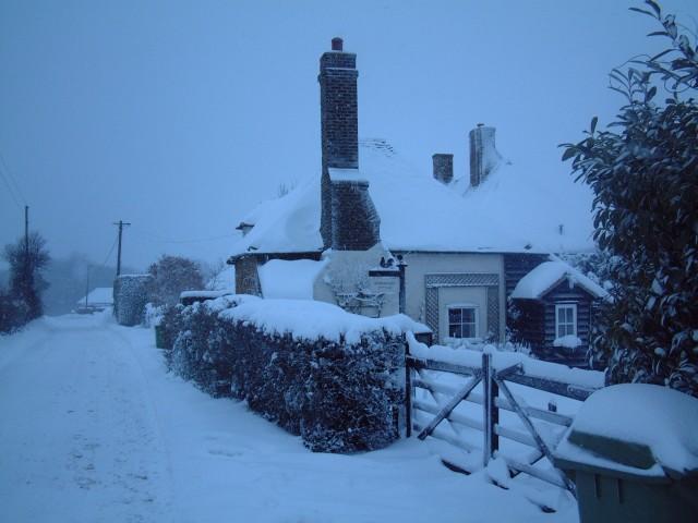 Redborough Cottage in winter